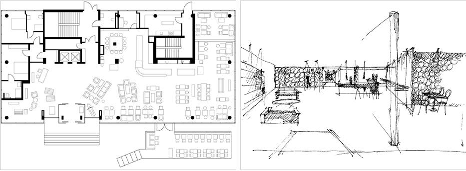 Дизайн отеля Даниэль. 1st floor