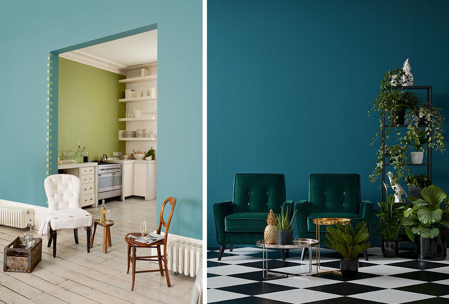 Два ньюансных цвета в дизайне интерьера