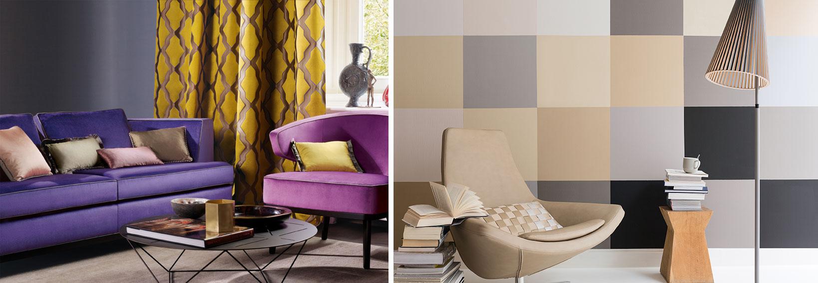 Два контрастных цвета в дизайне интерьера