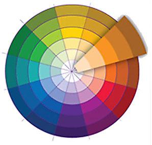 Одноцветное сочетание цвета в дизайне интерьера