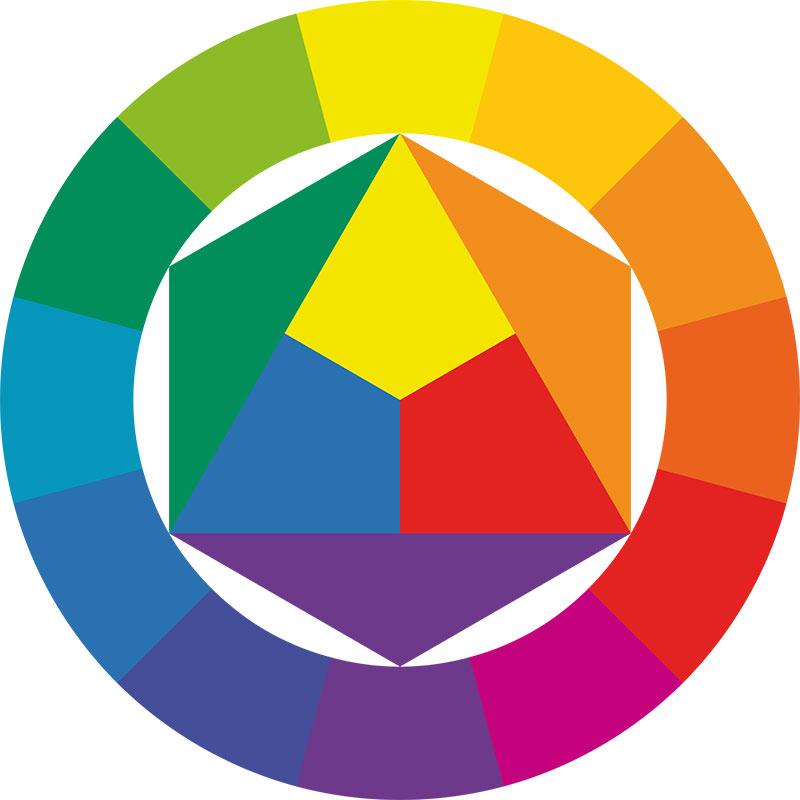 Цветовой круг Дизайн интерьера Вена Австрия