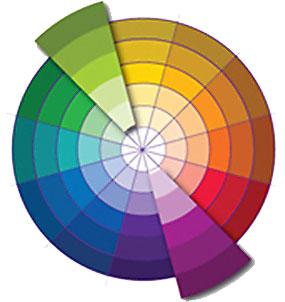 Контрастная пара цвета в дизайне интерьера