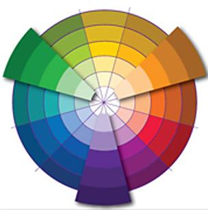 Контрастное трио цвета в дизайне интерьера